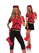 Minnie Is So Mousey Cute 5 Pc Halloween Costume - Small