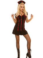 Gothic Naughty Nurse 4 piece Halloween Costume