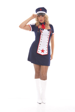 Naughty Naval Nymph Halloween Costume - Plus Sizes