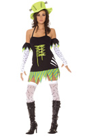 Funky Monster Sexy 5 Pc Halloween Costume ~ XS