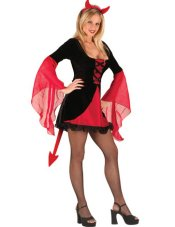 Adorable Red Devil Sexy Halloween Costume - M